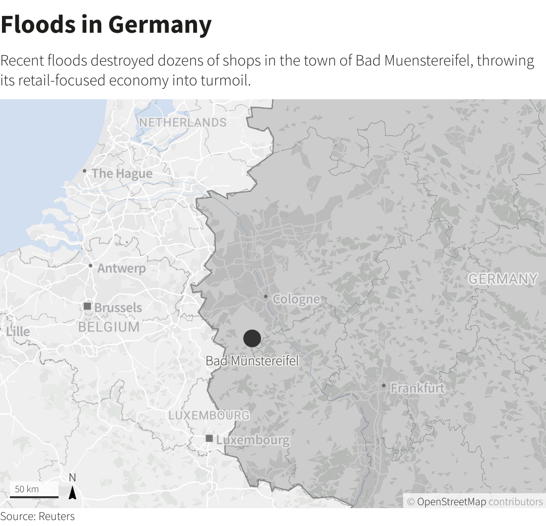 Once its strength, water now threatens Germany
