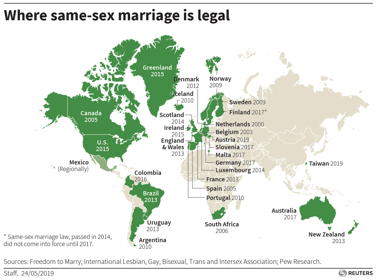 In first for Asia, Taiwan lawmakers back same- marriage ... on 9gag map, modernism map, new moon map, lawyers map, love wins map, family interaction map, life calling map, metaphysical map, inbreeding map, long trip map, stages of life map, doctrine map, sovereignty map, heredity map, middle class map, numerology map, food issues map, addiction map, birth control map,
